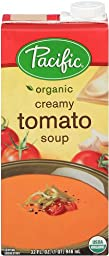 Pacific Foods Organic Creamy Tomato Soup, 32-Ounce Cartons, 12-Pack
