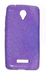 Mercator Silicon Back Cover for Micromax Canvas Spark Q380 (Purple)