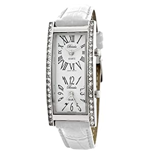Click to buy Breda Women's 2185_wht White Nicola Dual Time Zone Classic Leather Watchfrom Amazon!
