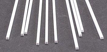プラストラクト プラ材 MS-100 角棒 2.5mm×2.5mm (全長250mm 10本入り)