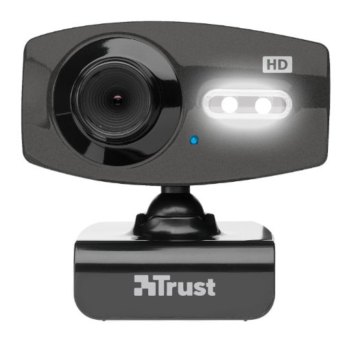 Trust eLight Full-HD-Webcam schwarz