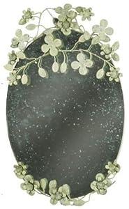 Specchio ovale in ferro con decorazioni fiori stile - Specchio ovale vintage ...