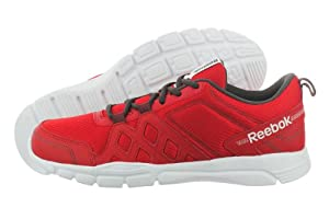 Reebok Men's Trainfusion RS 3.0 Leather Cross-Training Shoe,Excellent Red/Gravel/White,8.5 M US