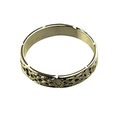 18ct yellow gold 4mm Celtic Wedding Ring sizes R to Z