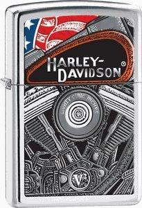 Zippo Harley-Davidson Engine High Polish Chrome Lighter