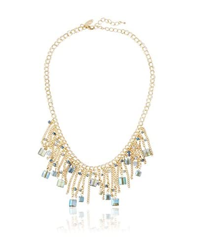 Saachi Blue & Smoky Beaded Drops Necklace
