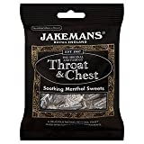 Jakemans Throat & Chest Soothing Menthol Sweets 100g x Case of 10