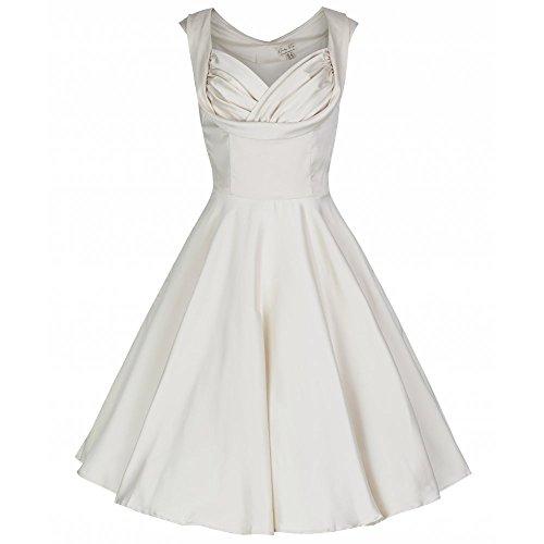 Lindy Bop 'Ophelia' Vintage 1950's Wedding Prom Swing Dress (XL, Ivory)