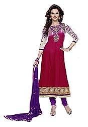 Abida Chiffon Pink Color Unstrich Suit of Monika Bedi