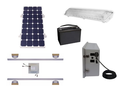 Suninone Solar Shed Lighting and Power Kit, High
