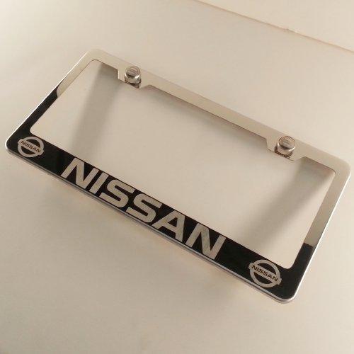 Polish Chrome Laser Engraved Nissan Stainless Steel USA License ...