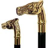 Gold Horse Brass Cane