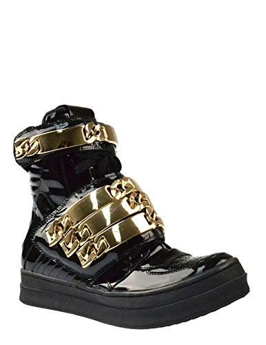 Jeffrey Campbell Jeffrey Campbell Bones ID Sneaker 9 Black B00G9FWDJG