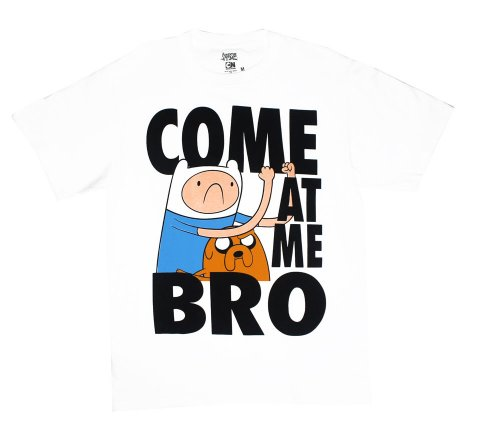 Come At Me Bro - Adventure Time T-Shirt: Adult Medium - White