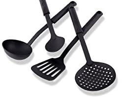 GREENCHEF Cook N Serve Kitchen Tool Set, 4-Pieces