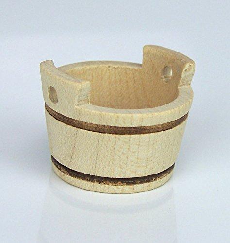 Mini-Trog aus Holz naturfarbig. Größe ca 3,5 cm. hoch. Weihnachtskrippe. W076.