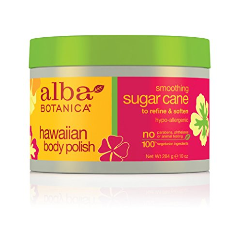 Alba Botanica Smooth Sugar Cane Hawaiian Body Polish, 10 Ounce Tub