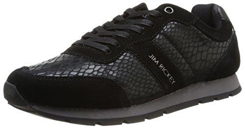 Jim Rickey  Ballistic Animal Suede,  Sneaker uomo Nero Noir (Black Snake) 43