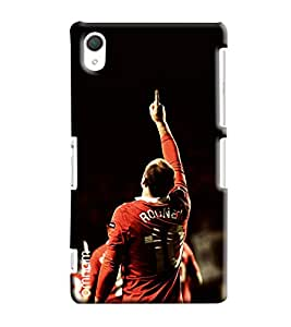 Omnam Wayne Rooney Printed Printed Designer Back Cover Case For Sony Xperia Z2