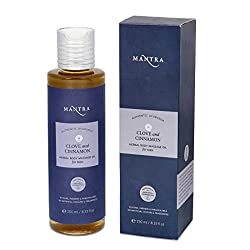 Mantra Clove and Cinnamon Herbal Body Massage Oil For Men (250 ml)