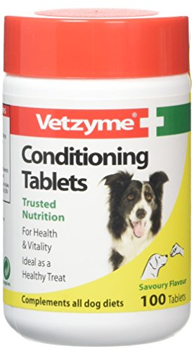 Vetzyme Conditioning Tablets For Dogs Pot Size: 100 Tablets (Vetzyme Conditioning Tablets compare prices)