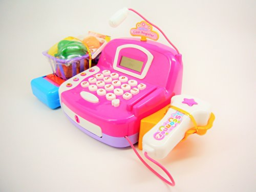 Toy Cash Register With Scanner : Pretend play cash register with accessories sound light