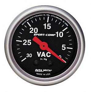 Auto Meter 3384 Sport Comp 2 1 16 Mechanical Vacuum Gauge