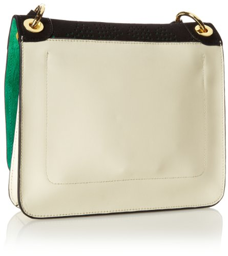 Orla Kiely Punched Square Flower Mini Ivy Cross Body Bag,Onyx,One Size