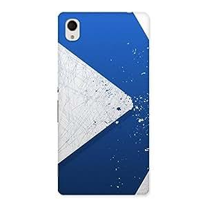 Stylish Blue Paint Work Job Back Case Cover for Xperia M4 Aqua