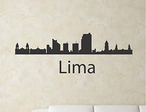 Lima Peru city skyline Vinyl Wall Art Decal Sticker