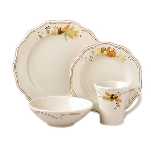 Pfaltzgraff Plymouth 16-Piece Dinnerware Set (Service For 4) Package includes 11-1/2-inch dinner plates 9-inch salad plates 20-ounce soup cereal bowls ...  sc 1 st  Thanksgiving Wikii & Thanksgiving Dinnerware Sets | Thanksgiving Wikii
