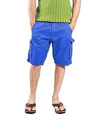 Uber Urban Regular Fit Pop Blue Shorts For Men 2