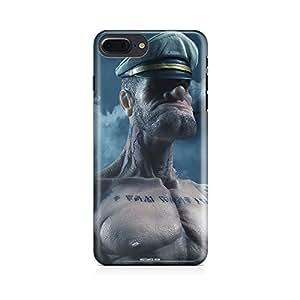 Motivatebox - Apple Iphone 7 plusBack Cover - Poppeye Polycarbonate 3D Hard case protective back cover. Premium Quality designer Printed 3D Matte finish hard case back cover.