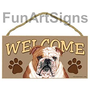 Bulldog Welcome Sign - Wooden Sign