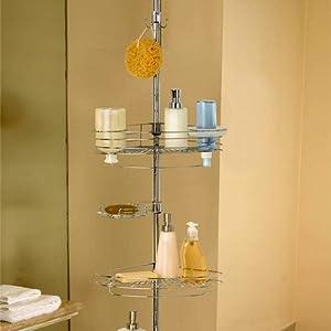 Better Bath Style-Rageous 3-Tier Tension Pole Shower Organizer