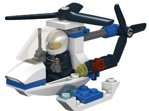 Lego City 30014 Jeu De Construction Hélicoptère De La Police