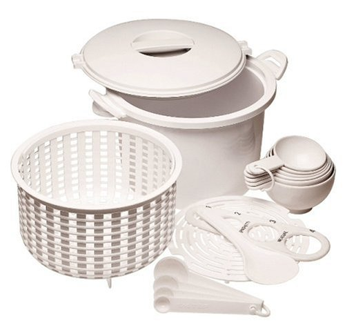 Progressive International Microwaveable 12-Cup (Cooked) Rice/Pasta Cooker Set