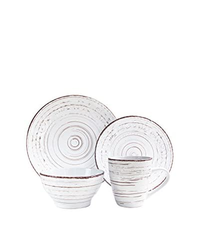 American Atelier Vintage White 16-Piece Dinnerware Set