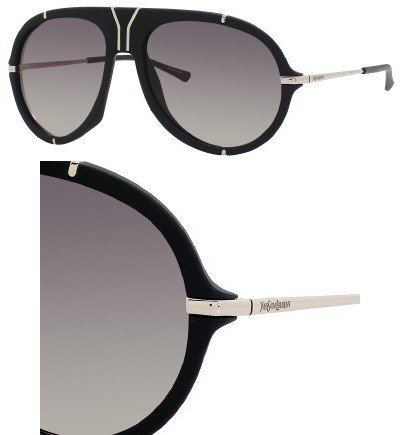 Yves Saint Laurent Yves Saint Laurent 2340/S Sunglasses-0EJZ Black (R4 Gray Green Grad Lens)-58mm