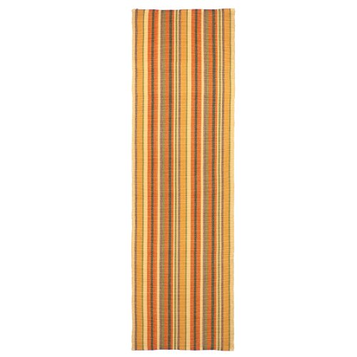 Extra Weave Usa Autumn Cottage Stripe Light Rug, 2-1/2-Feet by 8-Feet