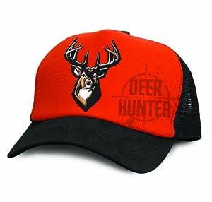 Buck Wear Deer Trucker Hat, Orange/Black, One Size