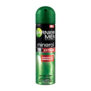 Garnier Men Mineral Deo-Spray, 72h  Extreme , 3er Pack (3 x 150 ml)