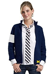 NCAA Michigan Wolverines Kashwere U Motorcycle Jacket by Kashwere U
