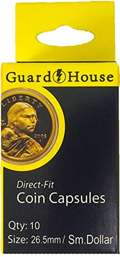 Guardhouse Box of 10 Direct Fit 26.5mm Coin Holders SMALL DOLLARS