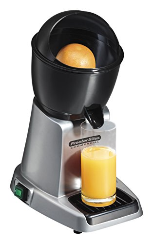 Proctor Silex Commercial 66900 Electric Citrus Juicer, 3 Reamer Sizes for Oranges, Lemons, Limes and Grapefruits, Removable Bowl, Strainer, Splashguard, Drip Tray, Black/Grey (Electric Commercial Juicer compare prices)