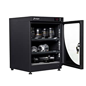 68L electronic automatic digital control dry box cabinet storage for DSLR camera lens by Electronic Dry Box Cabinet Cases