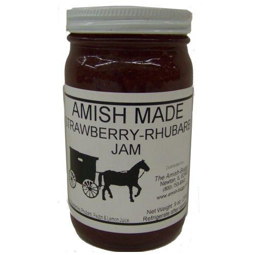 Amish Jam Strawberry Rhubarb - 8 Oz Set of 3