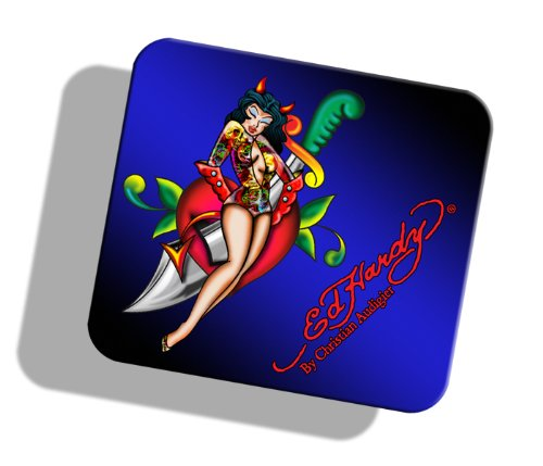 Ed Hardy Limited Edition MP09004 Mouse Pad (Pin Up Girl)