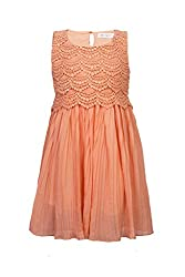 Soulfairy Girls' Dress (SS16-DRSFRL-007A_Peach_7-8 Years)
