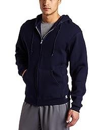 Russell Athletic Men\'s Dri Power Hooded Zip-up Fleece Sweatshirt, Navy, Small